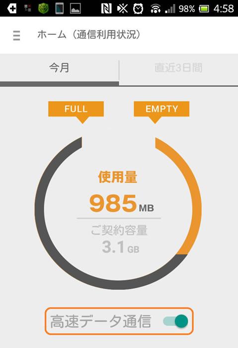 データ通信料